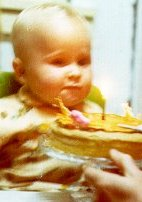 My First Birthday - 1975. Cake given to me by my dad.
